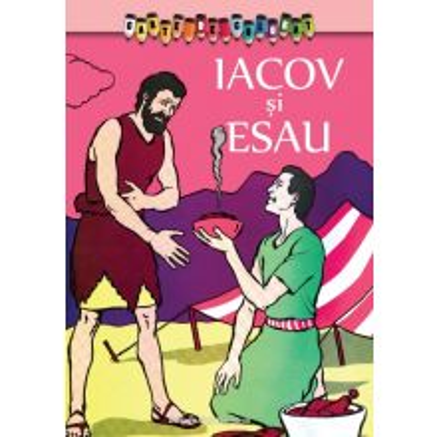 Carte de colorat - Esau si Iacov - Intamplari din Vechiul Testament