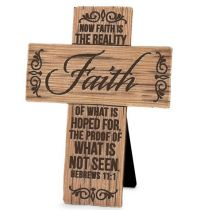 Cruce Faith Wood Grain Crosses