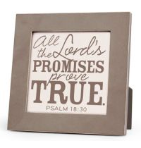 Placa gri All The Lord's Promises