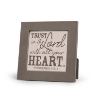Placa gri Trust in the Lord with all your heart