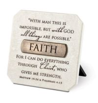 Mini placa decorativa - Faith