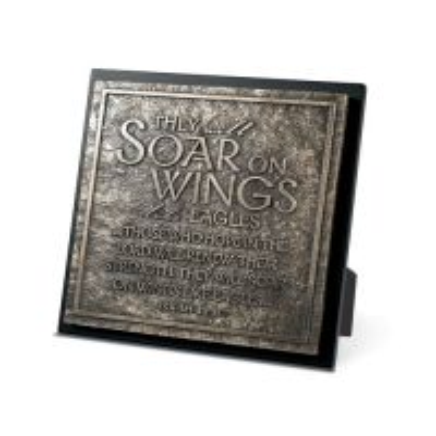 Placa - Soar in wings like eagles