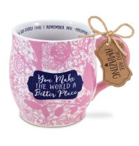 Cana din ceramica - You make the world a better place (seria Pretty prints)