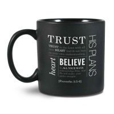 Cana din ceramica neagra Trust