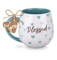 Cana din ceramica - Blessed (Happy Heart Series)
