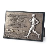 Placa mica in relief The Goal - Runner