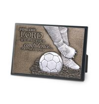 Placa mica in relief - Soccer (seria Moments of Faith)