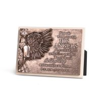 Placa mica in relief - Angel Wing