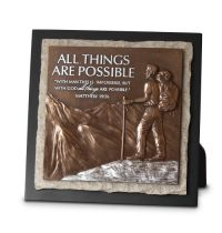 Placa medie in relief -  All Things Are Possible