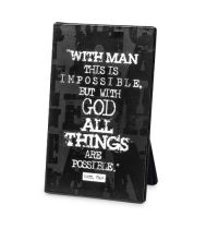 Placa neagra din metal - All Things Are Possible - Matthew 19:26