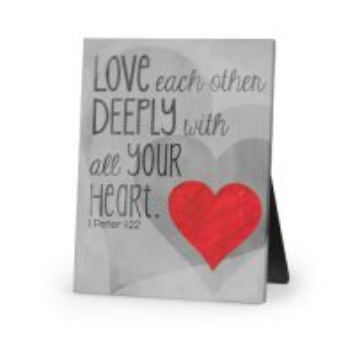Placa Love deeply (canvas)