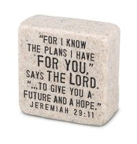 Decor piatra - For I Know The Plans (Scripture Stone)
