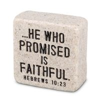 Decor piatra - Faithful (Scripture Stone)