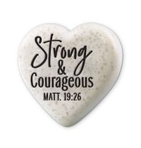 Decor inima - Strong and Courageous(Sentiment Hearts)