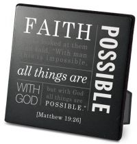 Placa neagra decorativa - Faith
