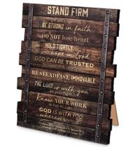 Placa Stand Firm (Industrial Farmhouse)