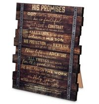 Placa His Promises (Industrial Farmhouse)