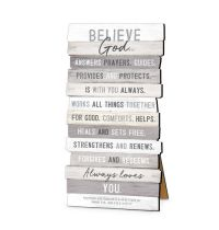 Placa din MDF - Believe God Answer Prayers