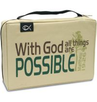 Husa pentru Biblie - With God all things are possible