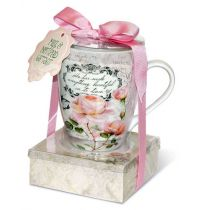 Set cadou Cana si notes adeziv - Vintage Rose Collection