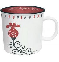 Cana din ceramica - Filled with Joy  (Scribbles Kitchen Collection)