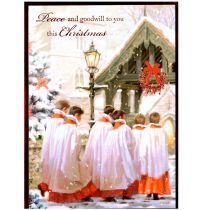 Felicitare Craciun - Peace and goodwill to you this Christmas