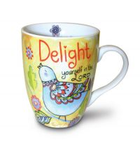 Cana din ceramica - Delight Yourself in the Lord