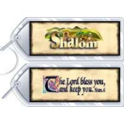 Breloc din plastic - Shalom