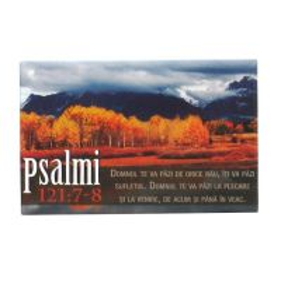 Magnet cu verset biblic Psalmi 121:7-8
