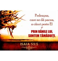 Poster - Isaia 53:5