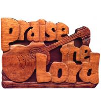 Placa decorativa din lemn - Praise the Lord