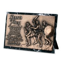 Placa mica sculptata Stand firm