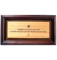 Tablou din lemn - Delight Yourself In The Lord