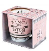 Cana din ceramica - Under His wings you will find refuge