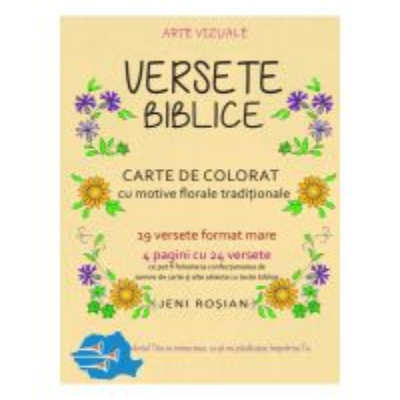 Carte de colorat VERSETE BIBLICE – motive traditionale