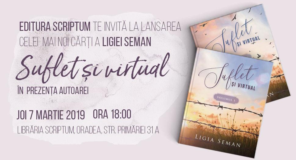 Lansare de carte Suflet si virtual, Ligia Seman
